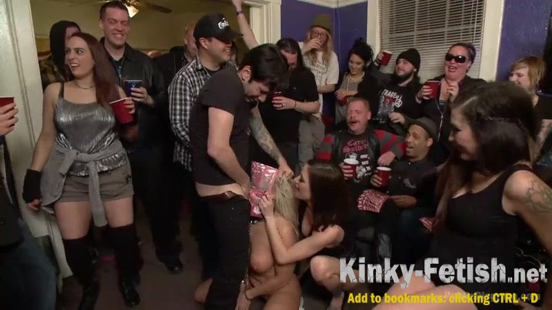 Gia DiMarco, Angel Allwood - Gia DiMarco, Angel Allwood - Annihilated at an orgiastic house party! (PublicDisgrace, Kink) | (SD | 2017)