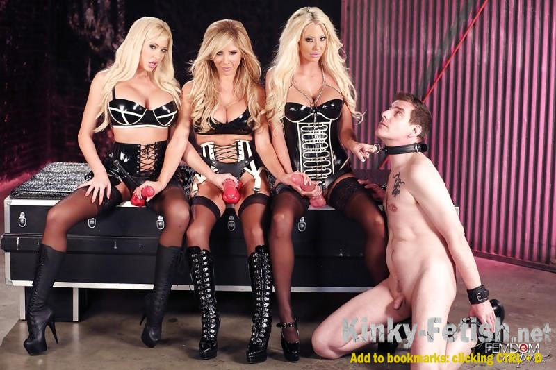 Courtney Taylor, Summer Brielle, Tasha Reign - Strap-on Blonde Gang Bang (FemdomEmpire) | (HD | 2017)