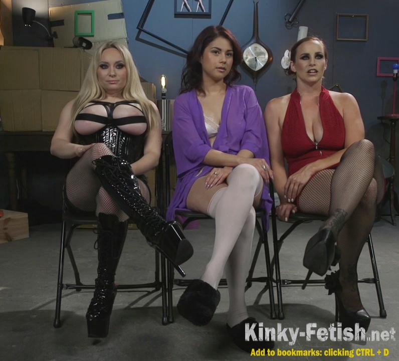 Aiden Starr, Bella Rossi, Penelope Reed - Dominating Dreams: First Time Kink Model is Tag-Teamed by Horny Lesbos (Kink) | (HD | 2017)