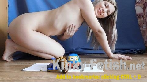 KatyaKASS - Fetish socks and toys with shit (ScatShop) | (FullHD | 2017)