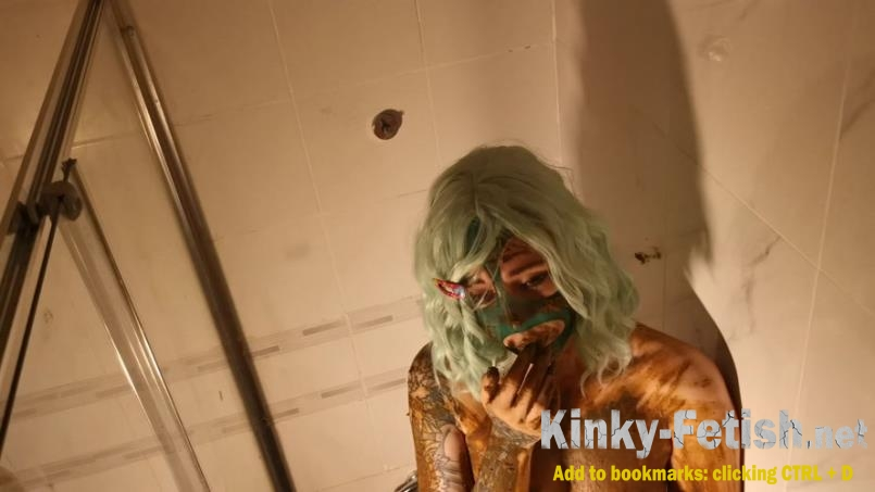 DirtyBetty - Omega! Toilet scat girl covered in shit (FullHD | 2019)