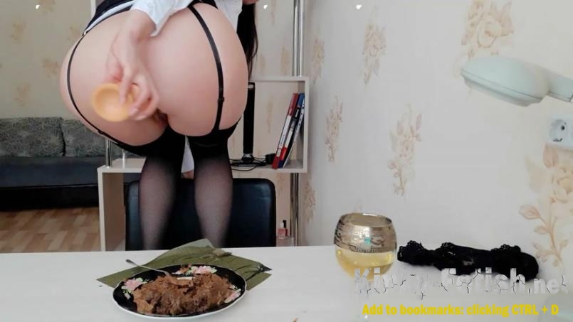 ScatLina  - The day of shitty secretary. Lunch.(Part 2) (FullHD | 2020)